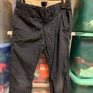 Gap Jersey Lined Khaki Pants NAVY Boys Sz 7 C PICS